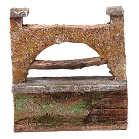 Muretto arco per presepe 10 cm 10x5x10 cm s1