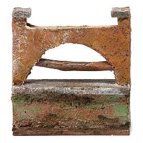 Muretto arco per presepe 10 cm 10x5x10 cm s4