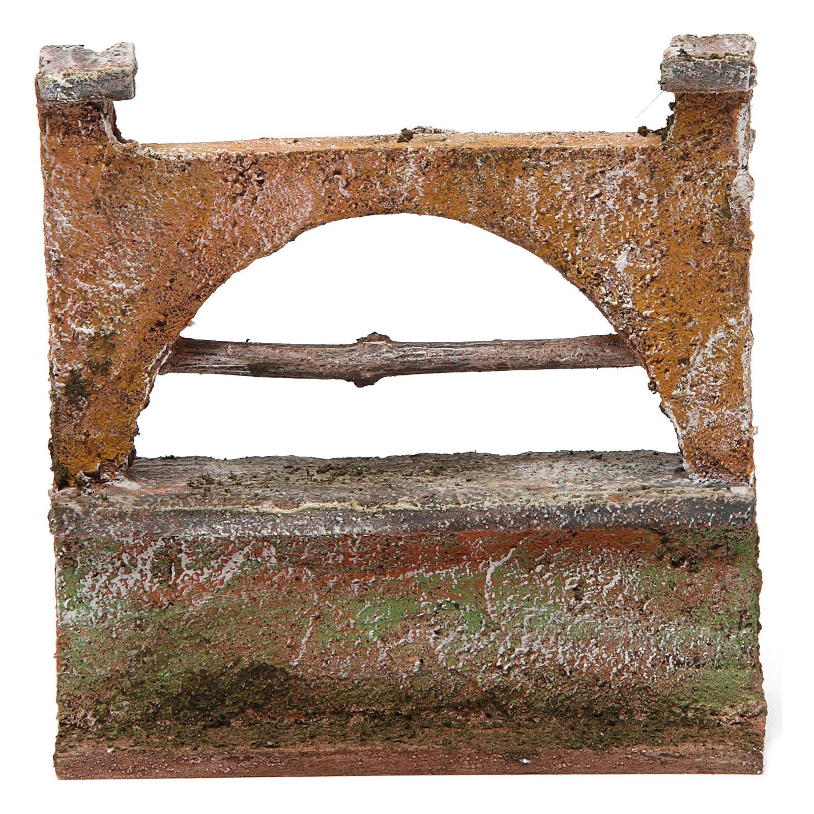 Muretto arco per presepe 12 cm 15x5x10 cm 4