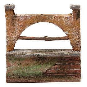 Muretto arco per presepe 12 cm 15x5x10 cm s4
