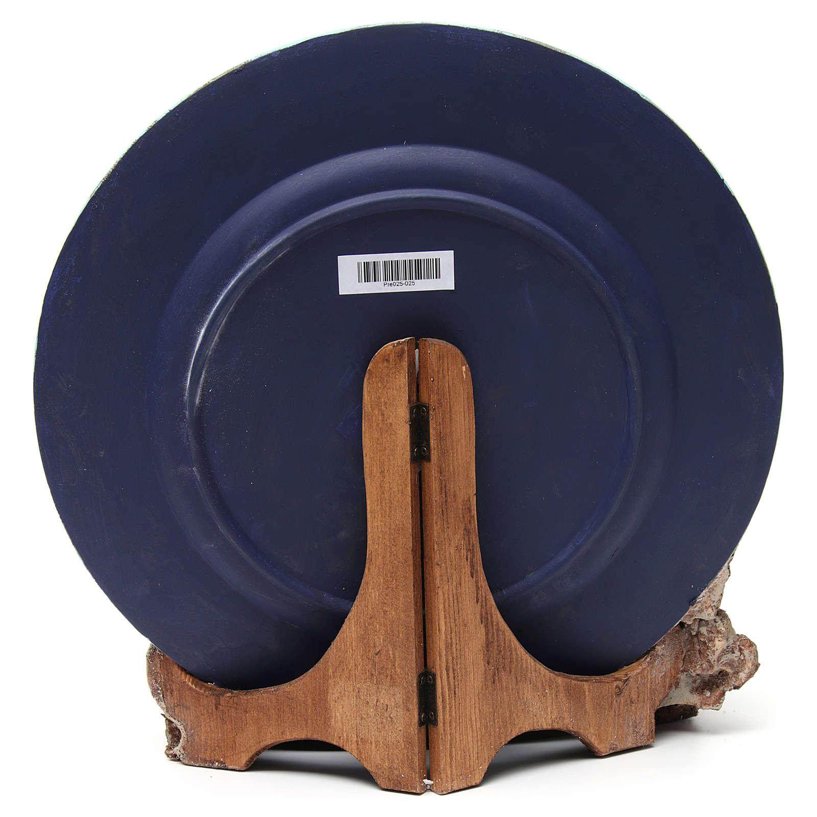 Crèche 10 cm complète sur assiette 4