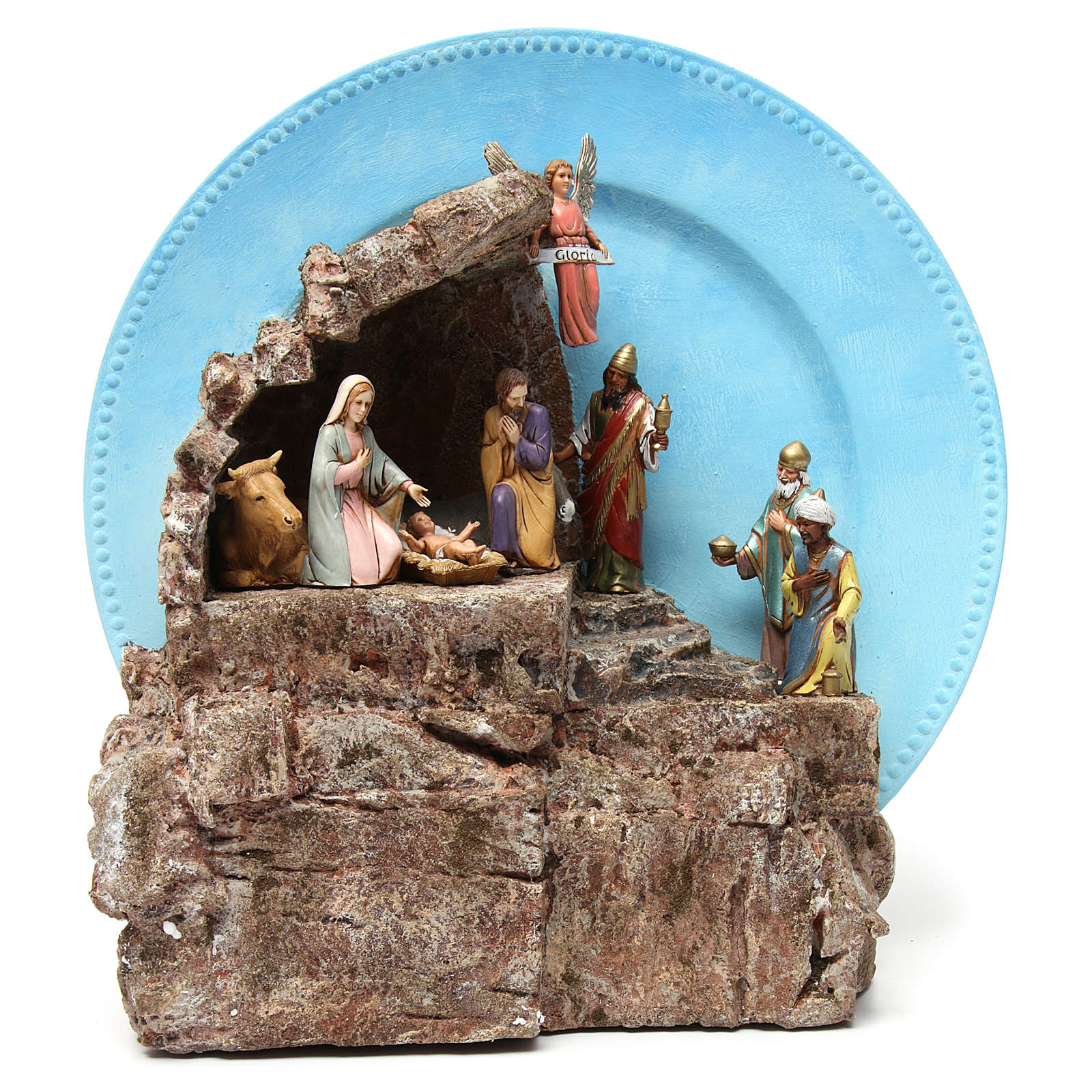 Complete Nativity on a Plate 10 cm 4