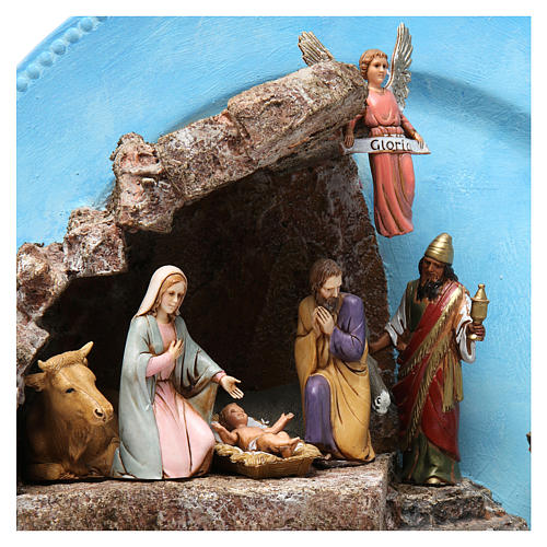 Complete Nativity on a Plate 10 cm 2