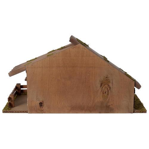 Stalla Presepe stile nordico in legno 30x55x25cm per statuette da 10-12 cm  4