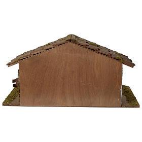 Stalla Presepe in legno modello scandinavo 30x55x30cm per statuette 10-12 cm s4