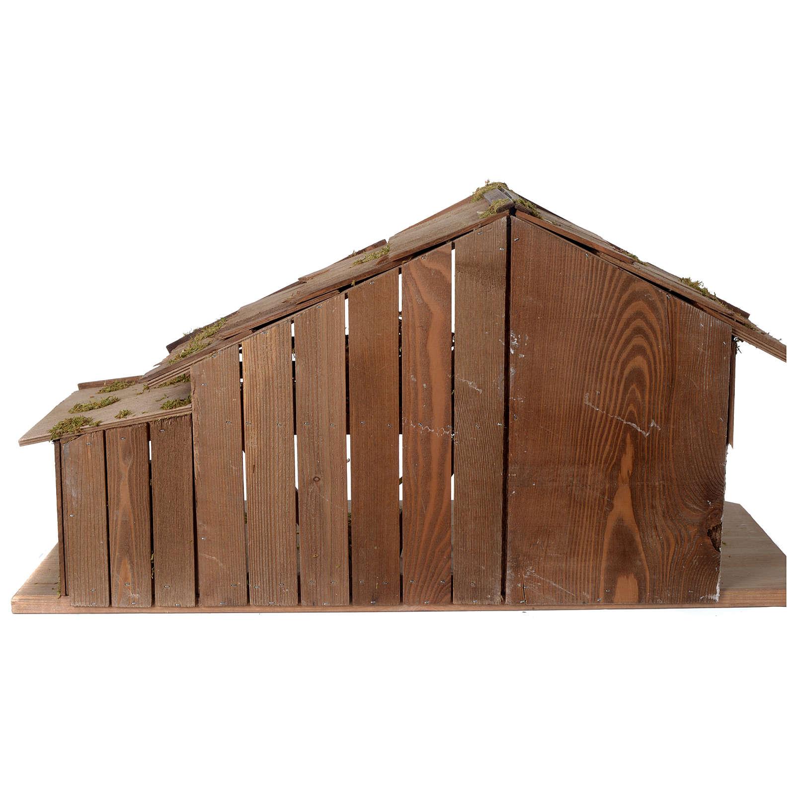 Capanna Presepe in legno stile scandinavo 40x70x30cm per statuine di 10-12 cm 4