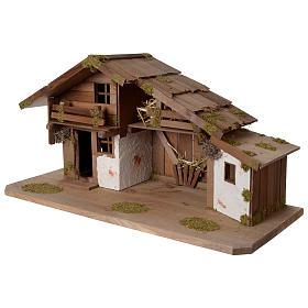 Capanna Presepe in legno stile scandinavo 40x70x30cm per statuine di 10-12 cm s2