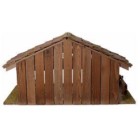 Casolare Presepe in legno artigianale modello nordico 30x60x30cm per statuine 10-12 cm s4