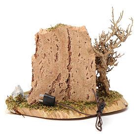 Feu de camp pour crèche 10-12 cm bois avec led effet flamme 3,5-4,5 V s3