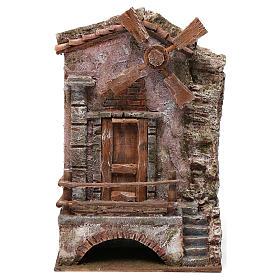 Moulin pour crèche quatre pales 30x20x15 cm s1
