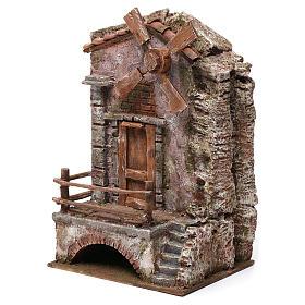 Moulin pour crèche quatre pales 30x20x15 cm s2