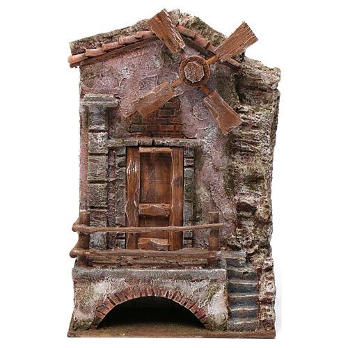 Moulin pour crèche quatre pales 30x20x15 cm 1