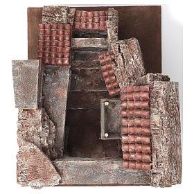 Aldea Callejón Corto para belén 12 cm de altura media 30x35x45 cm s7