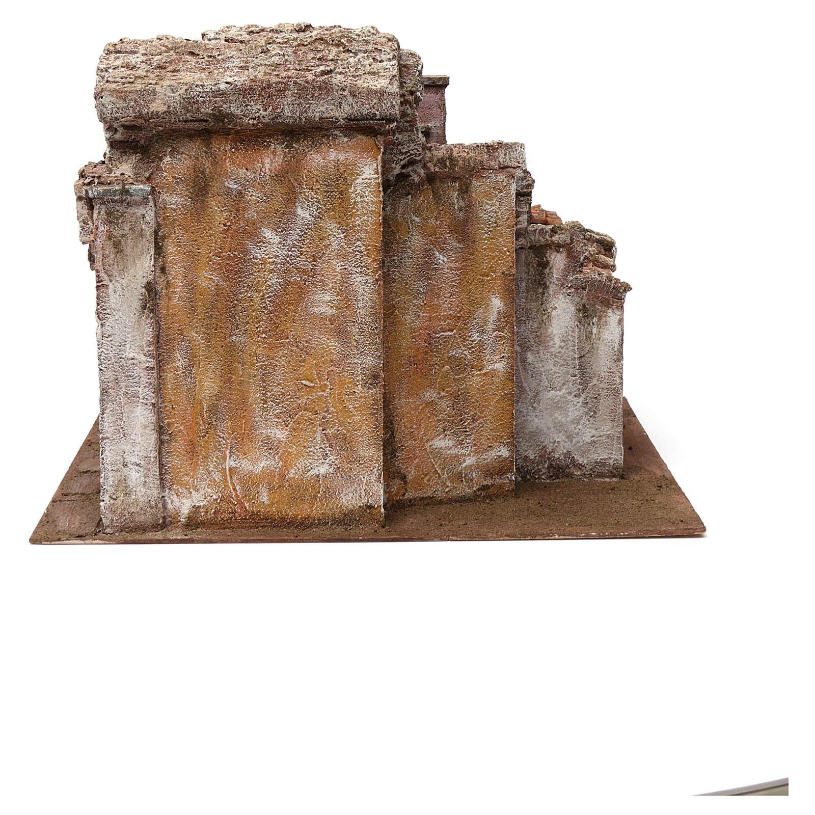 Borgo vicolo corto per presepe 12 cm 30X35X45 cm 4