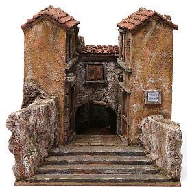 Village Vicolo storto for 12 cm nativity 30X35X45 cm s1