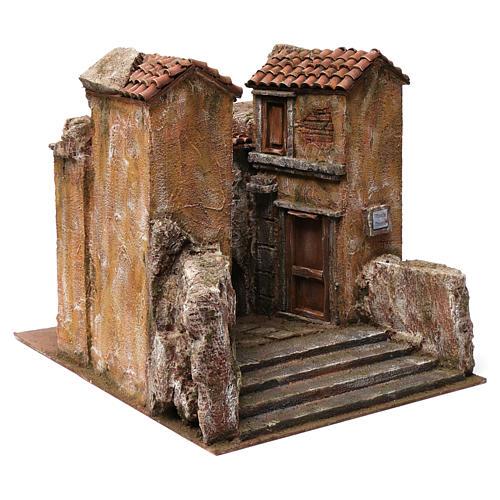 Village Vicolo storto for 12 cm nativity 30X35X45 cm 3