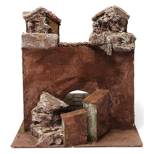 Village Vicolo storto for 12 cm nativity 30X35X45 cm 4