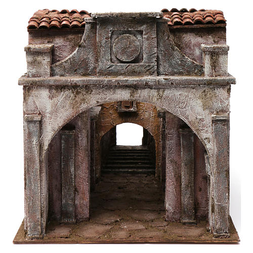 Vicolo Lungo alley setting for 12 cm nativity scene 1