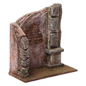 Brick wall with pillar for 12 cm nativity scene s3