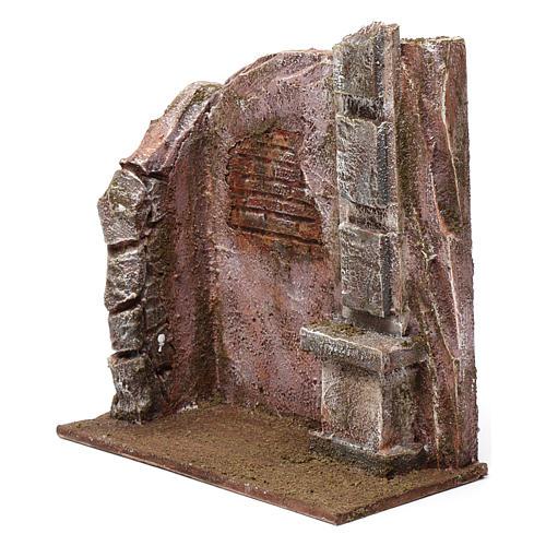 Brick wall with pillar for 12 cm nativity scene 2