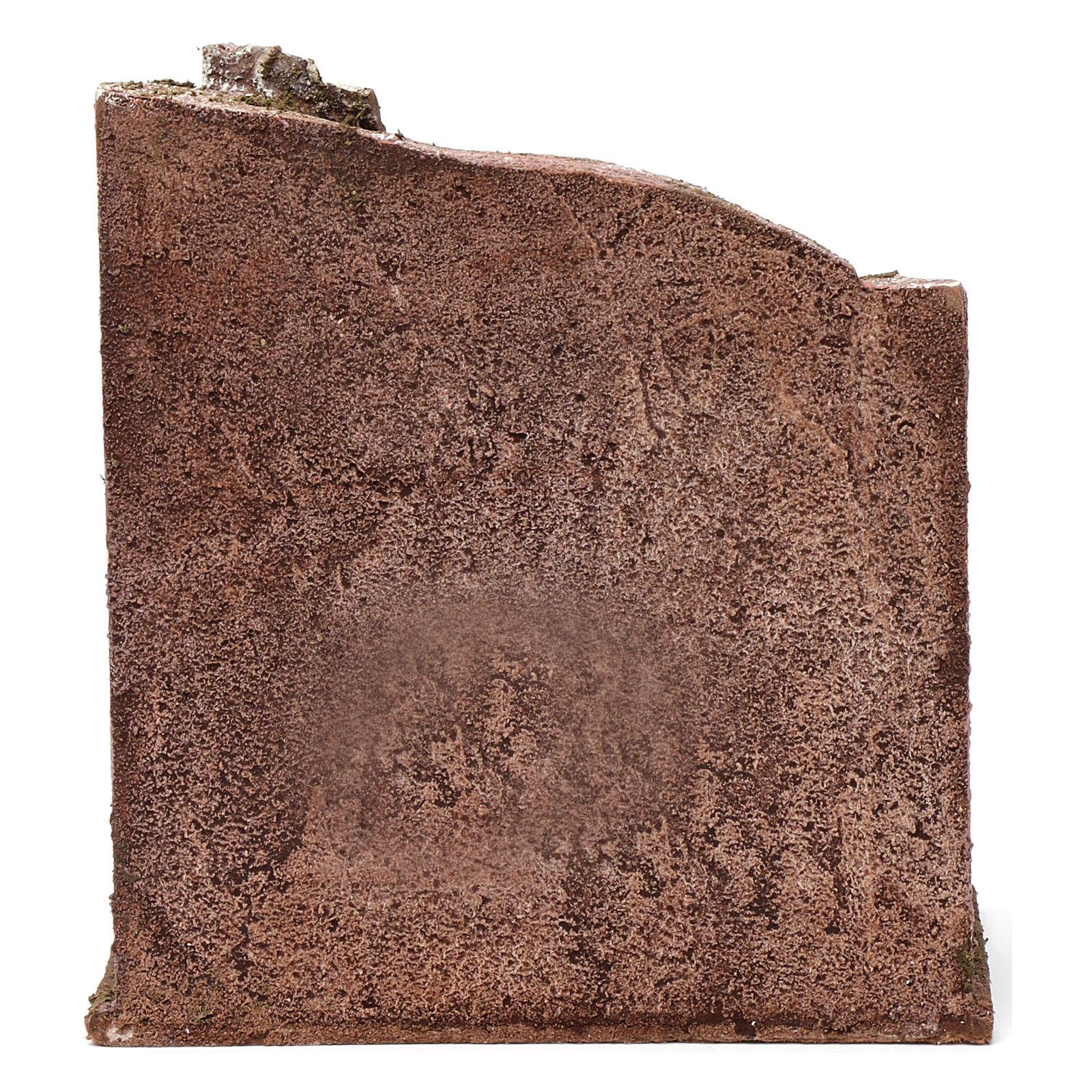 Muro con mattoncini per presepe 12 cm 20X20X10 cm 4