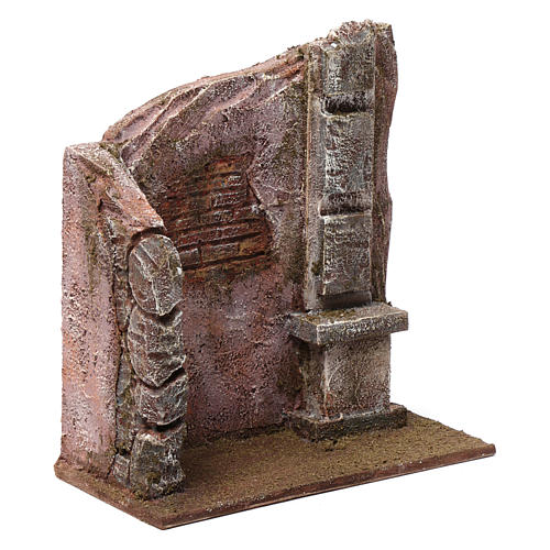 Wall with Bricks and Column for 12 cm nativity 20X20X10 cm 3