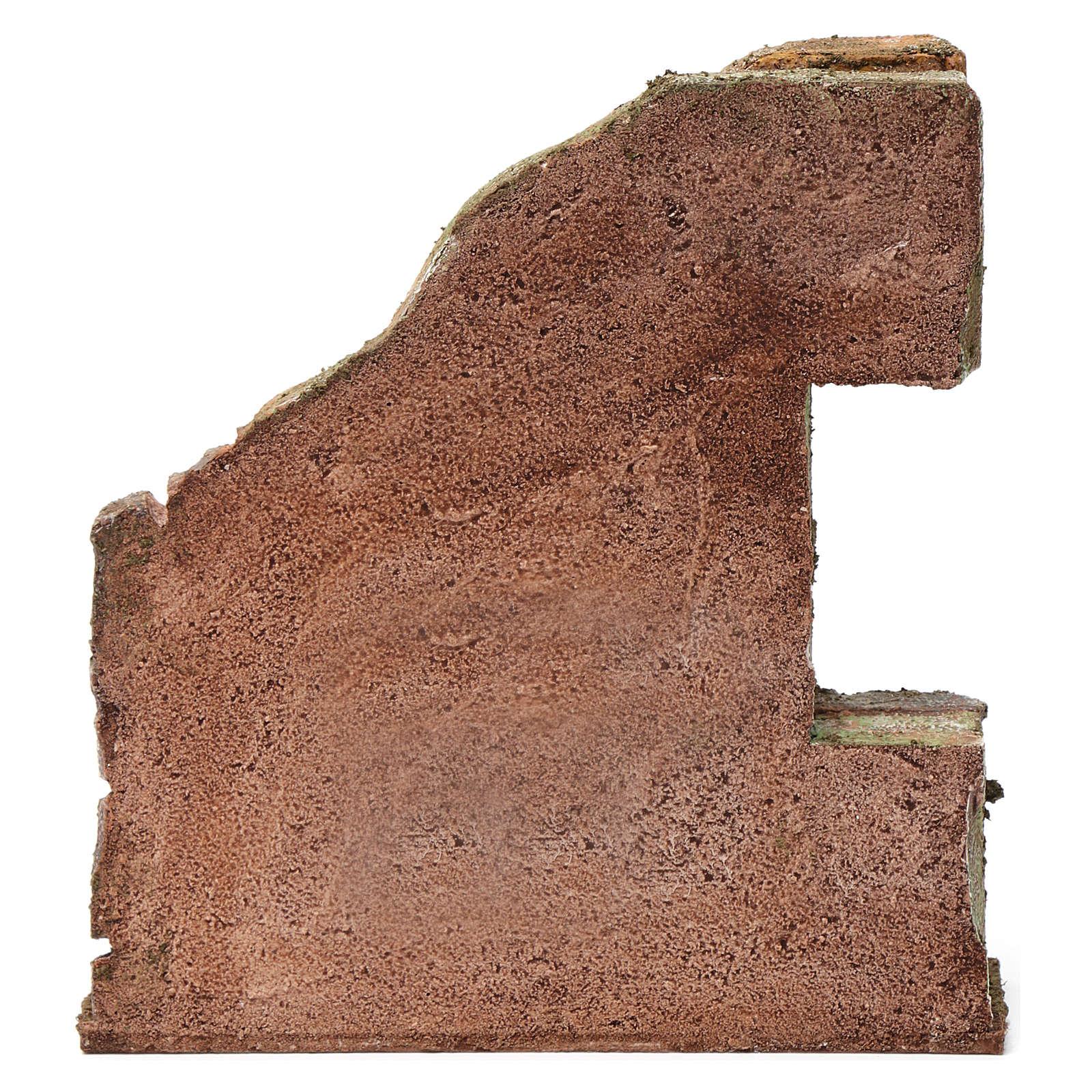 Muro con semiarco per presepe 12 cm 20X20X5 cm 4
