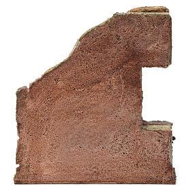 Muro con semiarco per presepe 12 cm 20X20X5 cm s4
