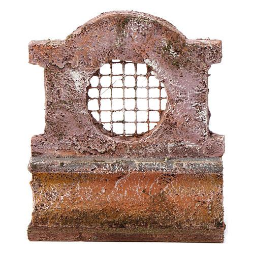 Muretto con grata per presepe 10 cm 15X10X5 cm 1