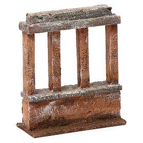 Muretto con quattro colonne per presepe 12 cm dimensioni 15X10X5 cm s3