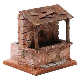 Fontaine avec abris en bois pour crèche 20x15x15 cm style palestinien s3