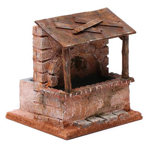 Fontaine avec abris en bois pour crèche 20x15x15 cm style palestinien 3