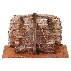 Pozzo con filo e travi in legno per presepe 12 cm 15X20X10  cm stile palestinese s1