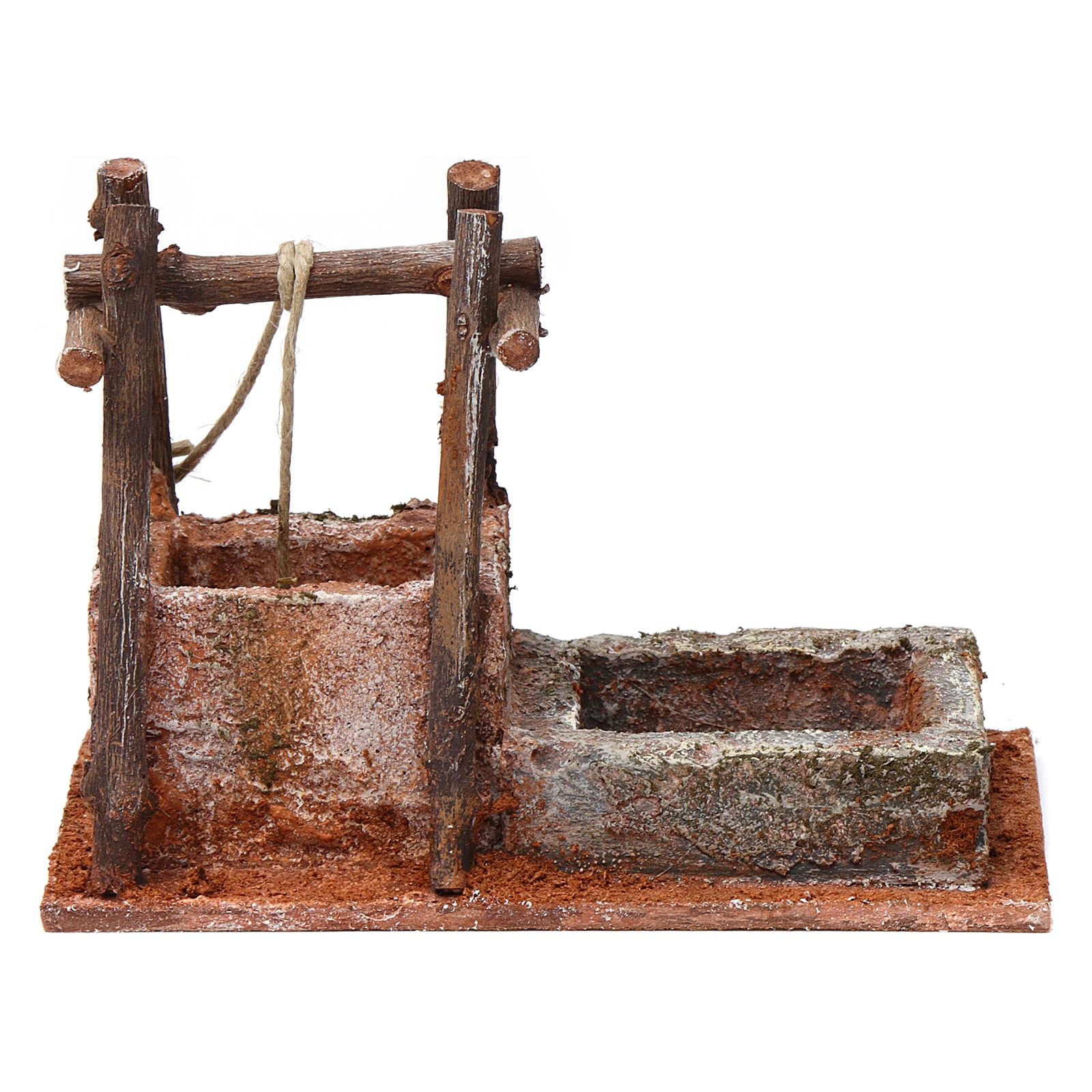 Pozzo con base in polistirene per presepe 10 cm 15X15X10 cm stile palestinese 4