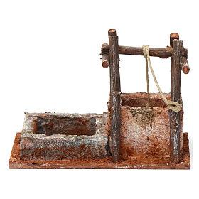 Pozzo con base in polistirene per presepe 10 cm 15X15X10 cm stile palestinese s4