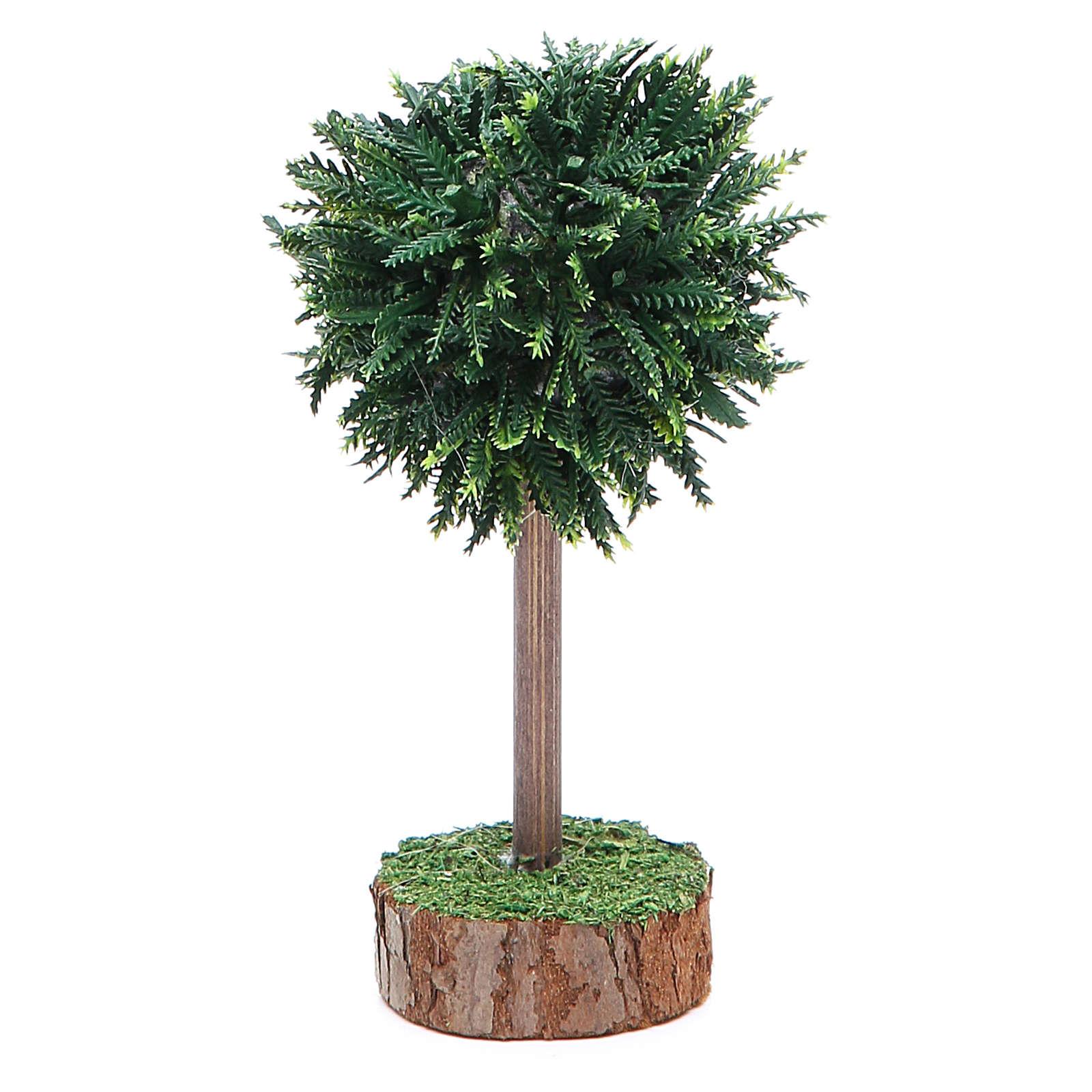 Albero verde per presepe in pvc e legno 4