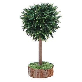 Albero verde per presepe in pvc e legno s1