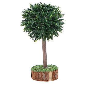 Albero verde per presepe in pvc e legno s2