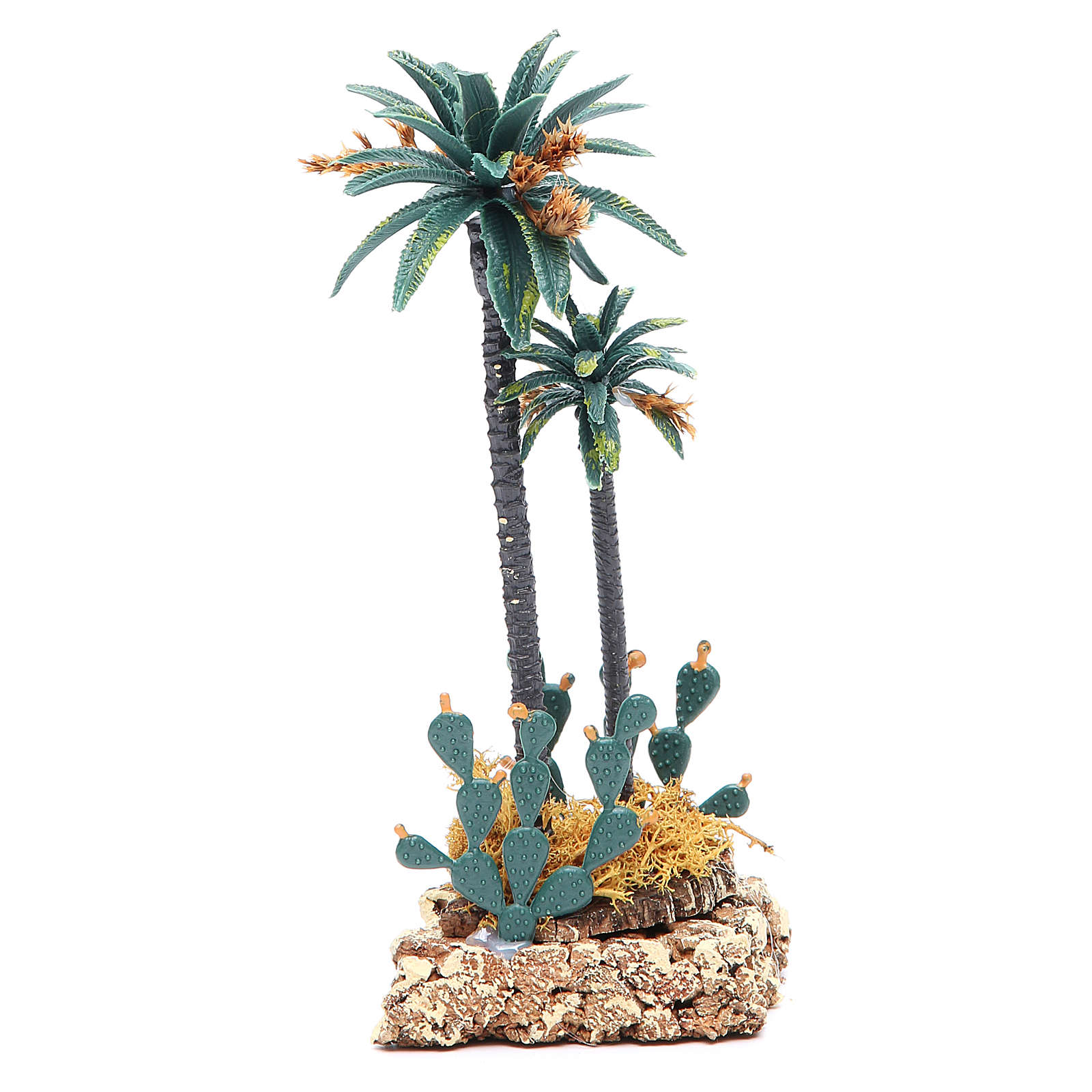 Palm tree and cactus for nativity scene in PVC, 20cm 4