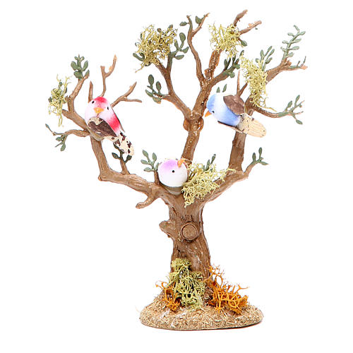 Tree with birds for nativity scene, assorted models 1