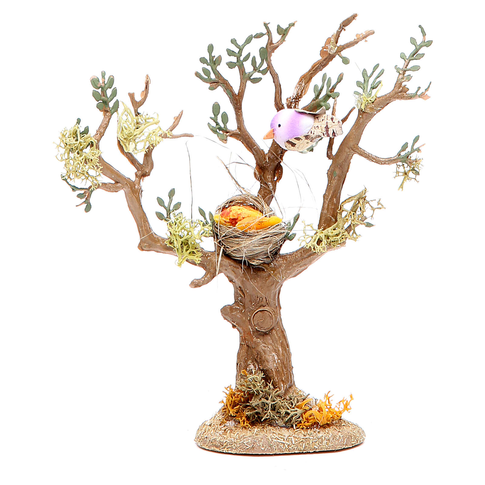 Tree with birds for nativity scene, assorted models 4
