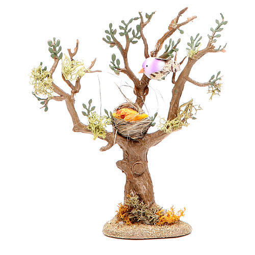 Tree with birds for nativity scene, assorted models 2