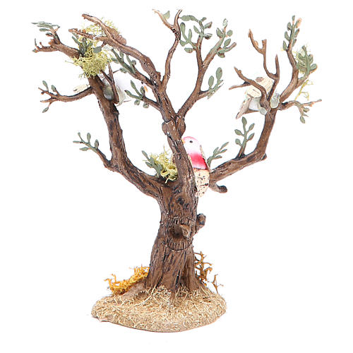 Tree with birds for nativity scene, assorted models 3