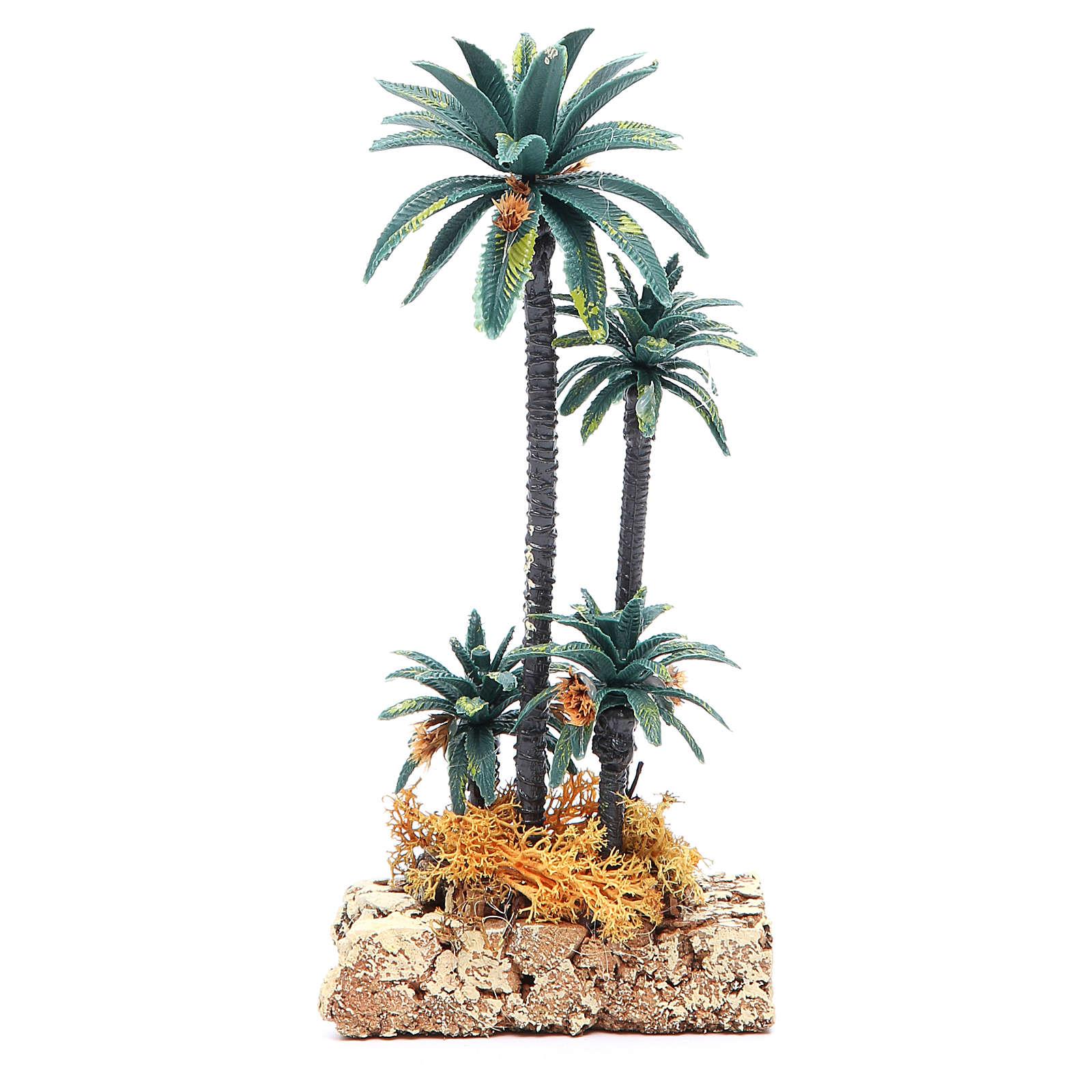Palmier groupe en pvc h 20 cm 4