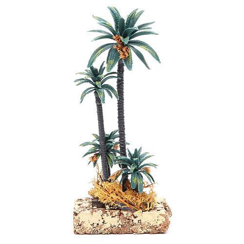 Palmier groupe en pvc h 20 cm 1