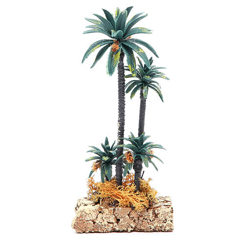 Palmier groupe en pvc h 20 cm 2