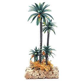 Palmeira grupo em pvc altura real 20 cm s2