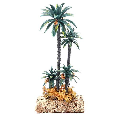 Palmeira grupo em pvc altura real 20 cm 2