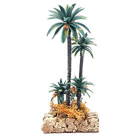 Group of palms for nativity scene in PVC, 20cm s2