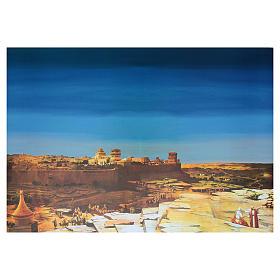 Fondale arabo presepe cartoncino 70x100 cm s1